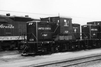 USA 1228 at Roper Yard in 1972.