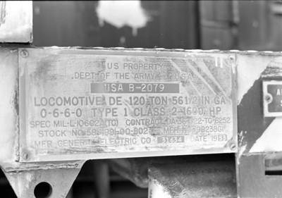 USA B-2079 builder plate.
