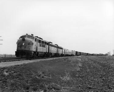 up-1445_F3_with-train_buffalo-kansas_aug-1957_jim-shaw-photo