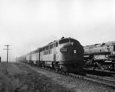 up-1454_F3_with-train_laramie-wyoming_aug-1956_jim-shaw-photo