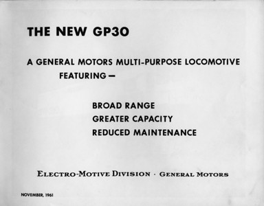 GP30 book title page.