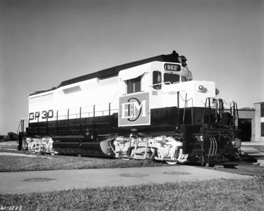 Builder's photo of EMD GP30 demonstrator 1962. (EMD Photo)