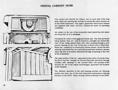 """Inertial Carbody Filter, known by the Farr Air Filter brand name """"Dynavane""""."""