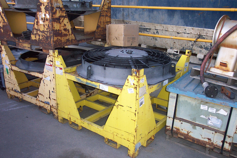 A Q type radiator fan, on a shipping pallet for movement and storage. Don Strack Photo