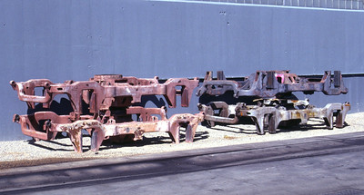AAR Type A truck frames, as used on UP's SW10s. Salt Lake City, August 1989. (Don Strack Photo)