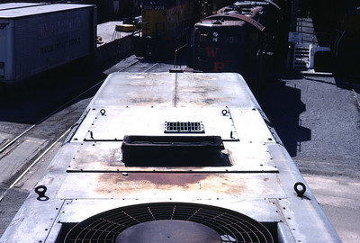 UP GP30B, no steam generator, top view, looking forward. August 1983. (Don Strack Photo