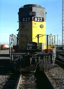 Rear view of UP GP30 827. (Don Strack Photo)