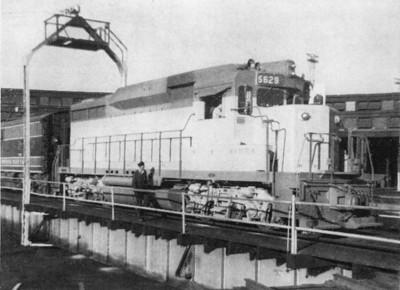 EMD GP30 demonstrator 5629. Ogden, Utah. September 13, 1961. (Harry R. Brown Photo; Trains magazine, February 1962)