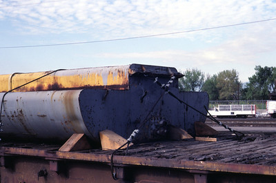 The fuel tank used on both GP30s and GP35s. On UP in Salt Lake City, August 1983. (Don Strack Photo)