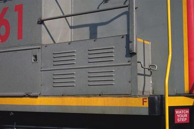 Utah Railway SD50S 6061, right battery box door. (Don Strack Photo)