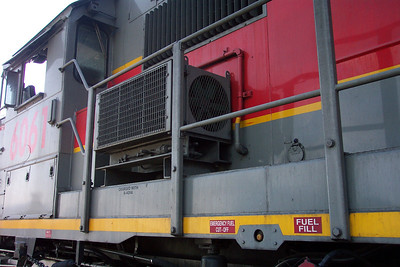 Utah Railway SD50S 6061, cab air conditioner. (Don Strack Photo)