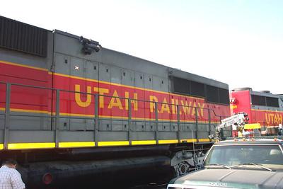 Utah Railway SD50S 6061, left side carbody. (Don Strack Photo)