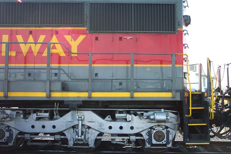 Utah Railway SD50S 6061, left rear carbody. (Don Strack Photo)