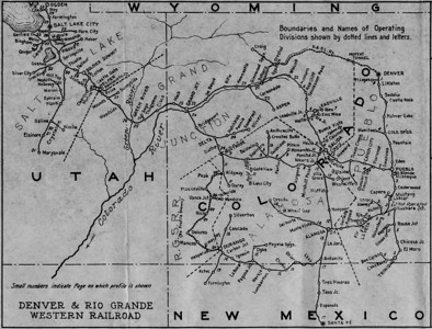 D&RGW 1934 System Map