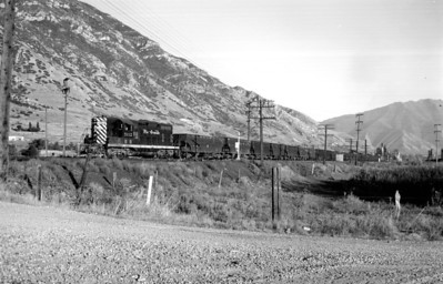 D&RGW 5112 passing through Provo. September 12, 1965. (Marvin Black Photo)
