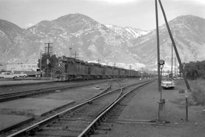 D&RGW passing through Provo. (Marvin Black Photo)