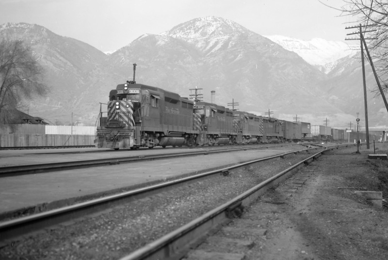 D&RGW Passing through Provo. March 24, 1966. (Marvin Black Photo)