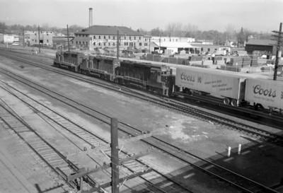 D&RGW passing through Provo. April 16, 1966. (Marvin Black Photo)