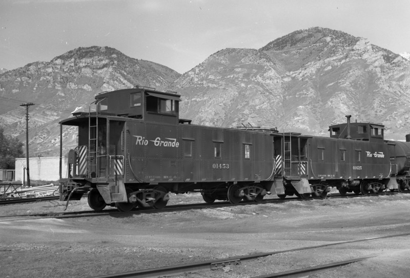 D&RGW cabooses at Provo. April 1966. (Marvin Black Photo)