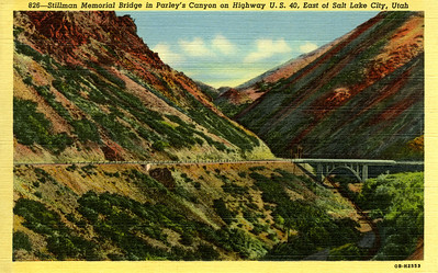 Note D&RGW's Park City Branch at the bottom of the canyon.