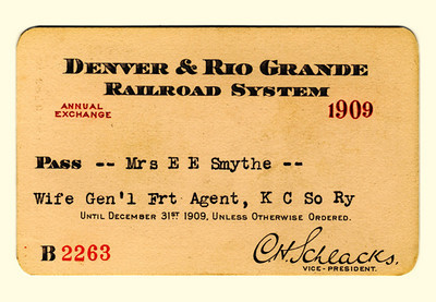 D&RG Railroad System 1909