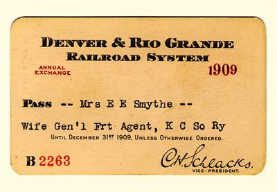 D&RG Railroad System 1909