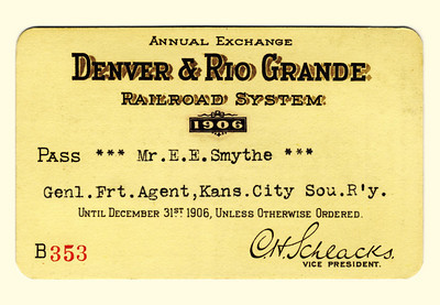 D&RG Railroad System 1906