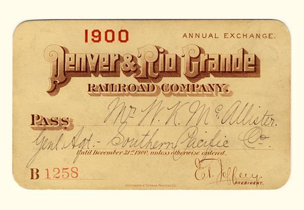 D&RG Railroad 1900