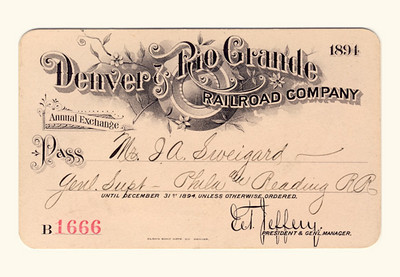 D&RG Railroad 1894