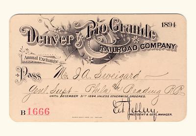 D&RG Railroad 1894