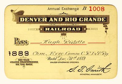 D&RG Railroad 1889