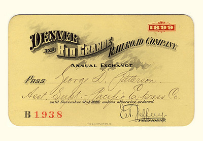 D&RG Railroad 1899