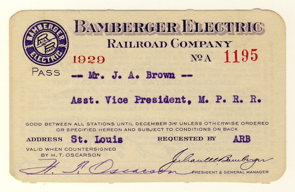 Bamberger Electric Railroad 1929