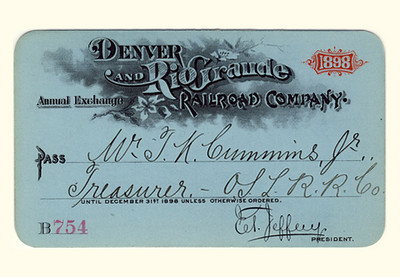 D&RG Railroad 1898