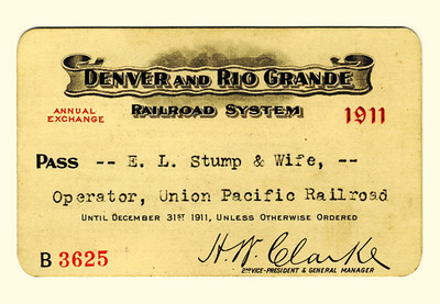 D&RG Railroad System 1911
