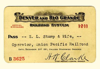 D&RG Railroad System 1911