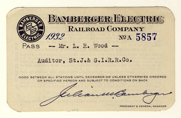 Bamberger Electric Railroad 1932