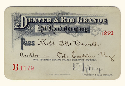 D&RG Railroad 1893