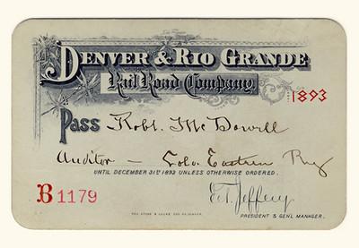 D&RG Railroad 1893