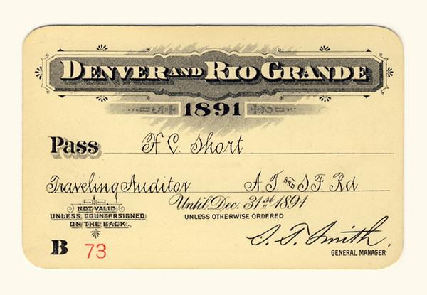 D&RG Railroad 1891