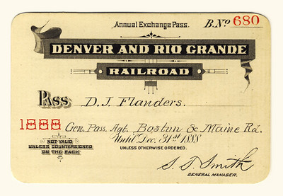 D&RG Railroad 1888