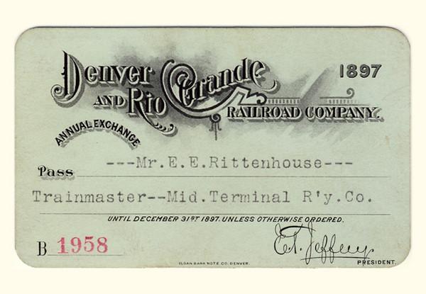 D&RG Railroad 1897