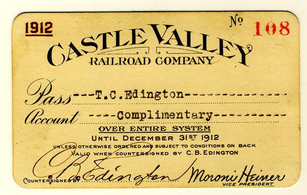 Castle Valley Railroad 1912