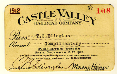 Castle Valley Railroad 1912
