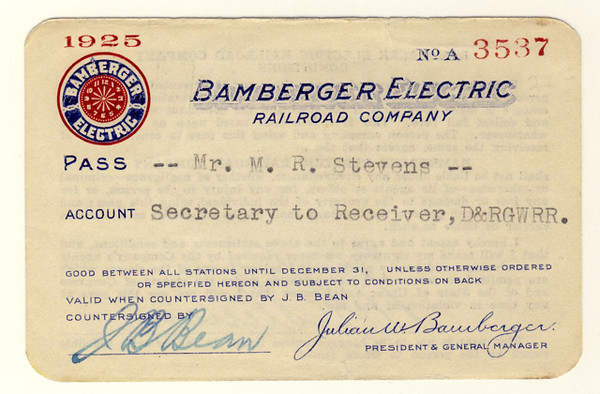 Bamberger Electric Railroad 1925