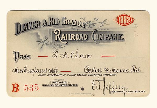 D&RG Railroad 1892