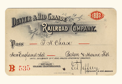 D&RG Railroad 1892
