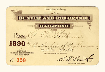D&RG Railroad 1890
