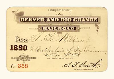 D&RG Railroad 1890