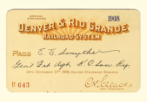 D&RG Railroad System 1908